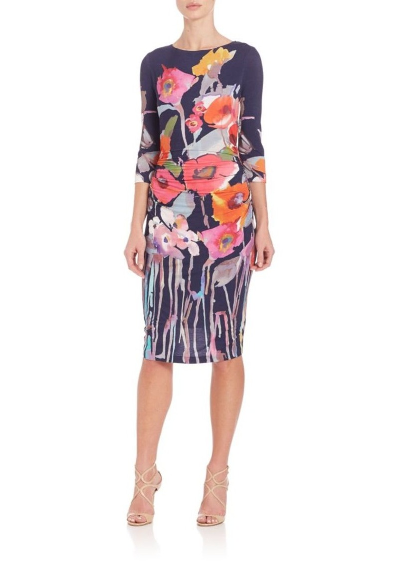 Kay Unger New York Kay Unger Printed Stretch-Jersey Dress