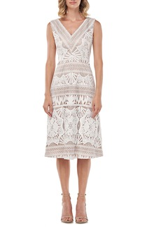 Kay Unger New York Kay Unger Priscilla Lace Midi Dress