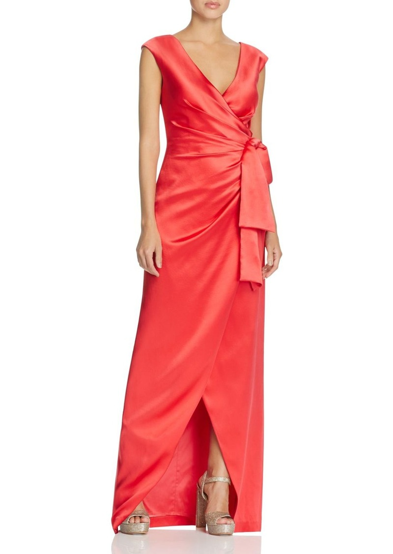 Kay Unger New York Kay Unger Satin Wrap Gown