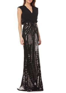 Kay Unger New York Kay Unger Sequin Gown