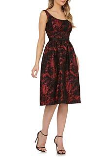 Kay Unger New York Kay Unger Sleeveless Bow Waist Fit & Flare Dress