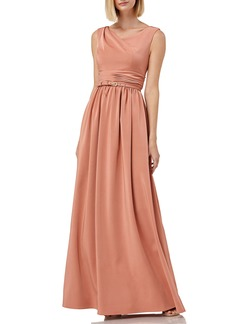 Kay Unger New York Kay Unger Sleeveless Draped Neckline Gown