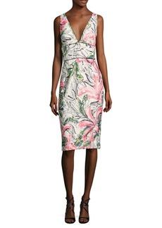 Kay Unger New York Kay Unger Sleeveless Floral Cocktail Dress