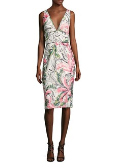 Kay Unger New York Kay Unger Sleeveless Floral Cocktail Dress