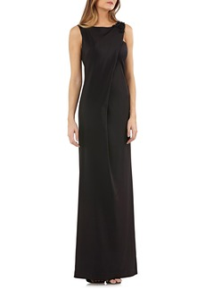 Kay Unger New York Kay Unger Sleeveless Stretch Crepe Gown