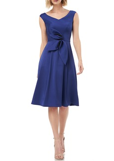 Kay Unger New York Kay Unger Sleeveless Stretch Mikado Fit & Flare Dress