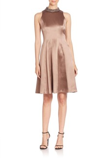 Kay Unger New York Kay Unger Solid Fit-&-Flare Dress