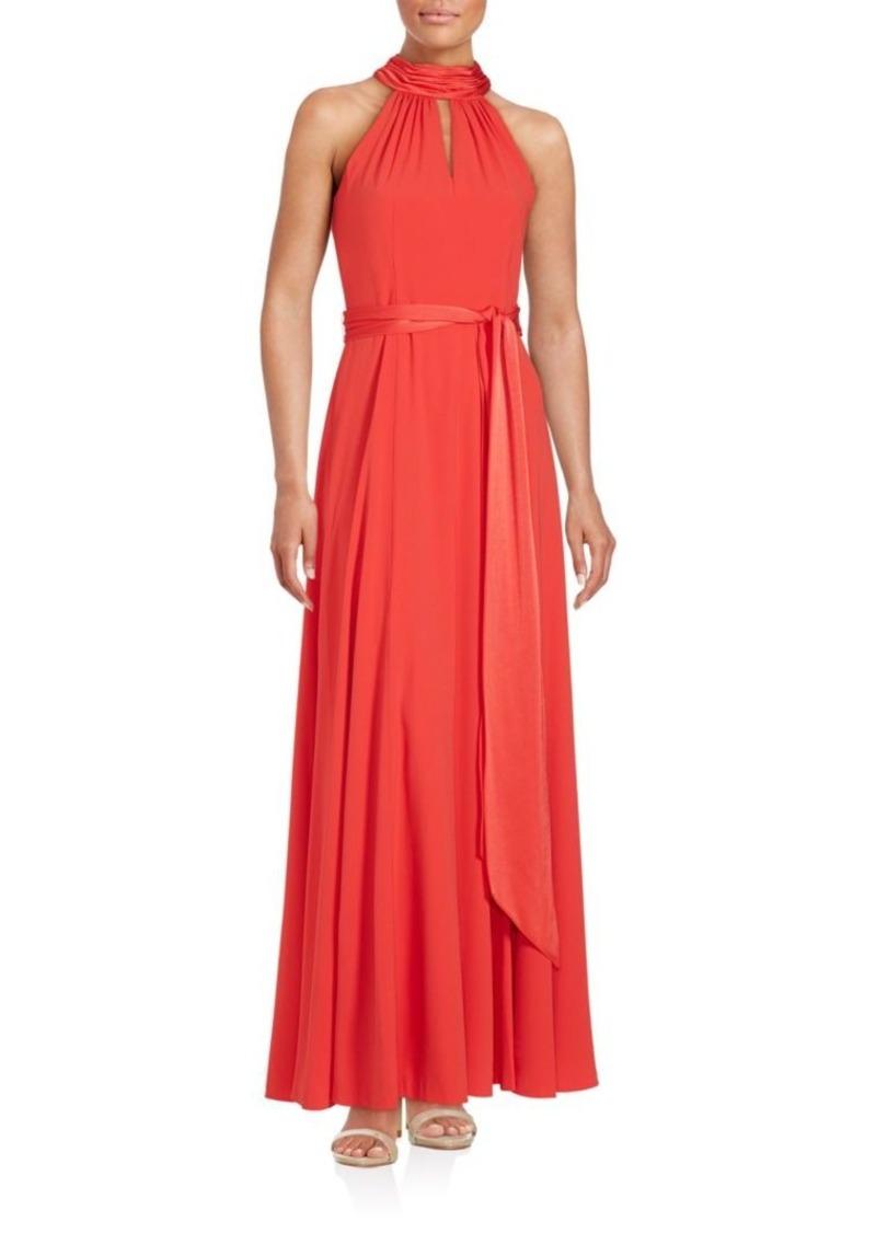 Kay Unger New York Kay Unger Solid Halterneck Floor-Length Gown