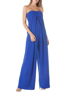 Kay Unger New York Kay Unger Strapless Crepe Jumpsuit