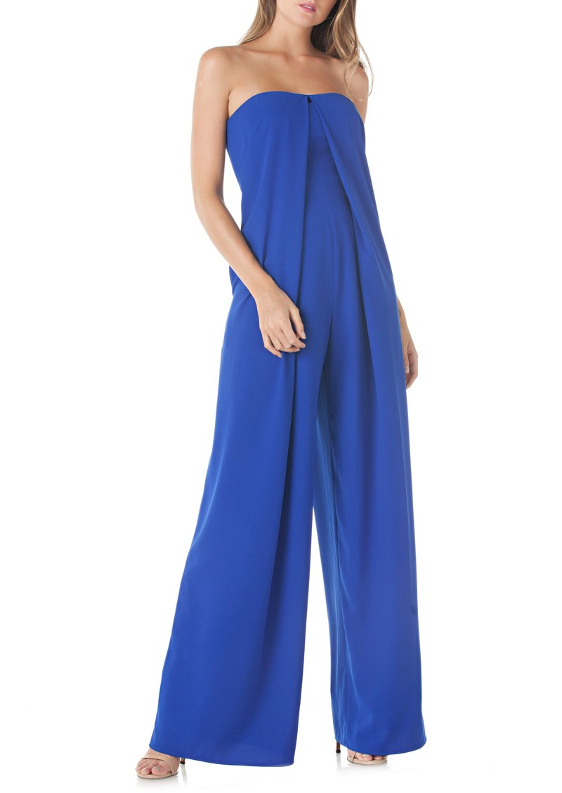 76c413ea5b1f Kay Unger New York Kay Unger Strapless Crepe Jumpsuit