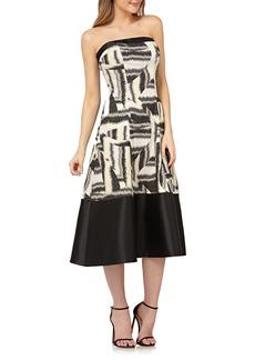 Kay Unger New York Kay Unger Strapless Fit & Flare Tea-Length Dress