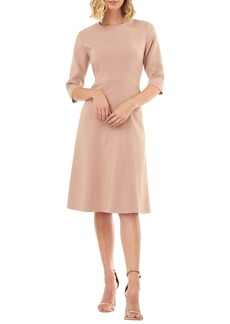 Kay Unger New York Kay Unger Stretch Crepe A-Line Dress