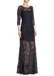 Kay Unger New York Kay Unger Illusion Lace Gown