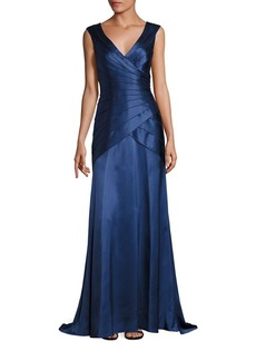 Kay Unger New York Kay Unger Tiered Wrap Gown