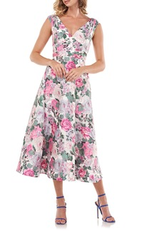 Kay Unger New York Kay Unger Tivoli Rose Brocade Cocktail Dress