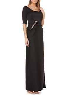 Kay Unger New York Kay Unger Twist Mikado Column Gown.