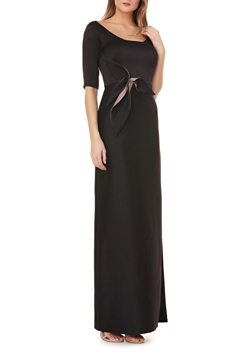 163e9ba91a Kay Unger New York Kay Unger Twist Mikado Column Gown.