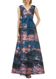 Kay Unger New York Kay Unger Valentin Fit & Flare Evening Gown