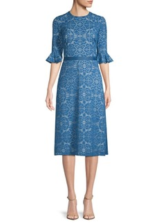 Kay Unger New York Lace A-Line Dress