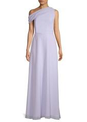 Kay Unger New York One-Shoulder Floor-Length Gown