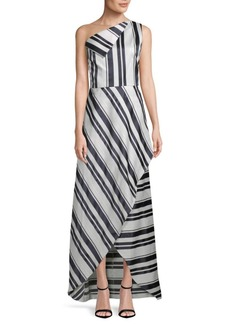 Kay Unger New York One-Shoulder Sleeveless Gown