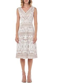 Kay Unger New York Priscilla Lace Midi Dress
