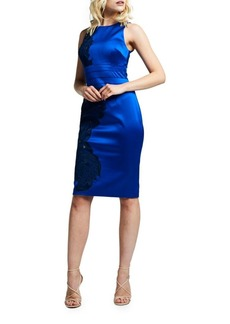 Kay Unger New York Satin Royal Bodycon Dress