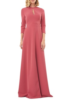 Kay Unger New York Women's Kay Unger Hannah Stretch Crepe A-Line Gown