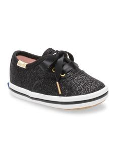 Keds Baby Girl's Keds x Kate Spade Champion Glitter Crib Sneaker