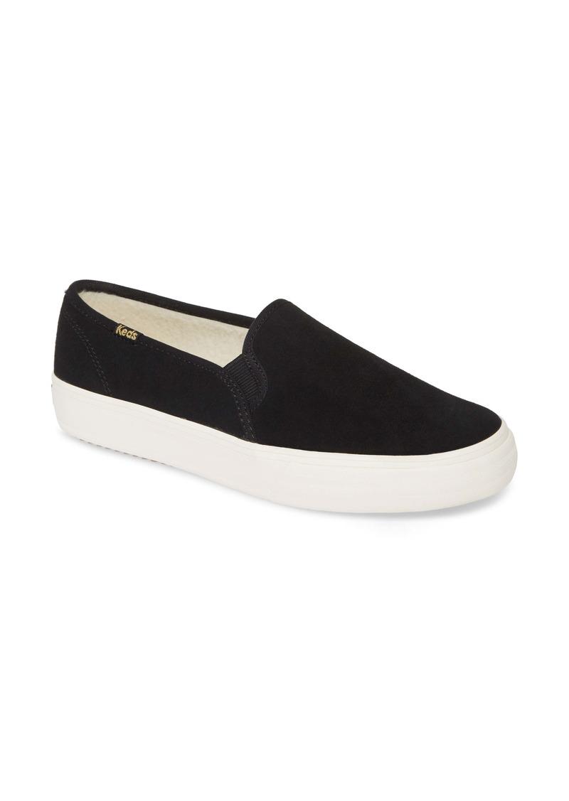 Keds® Double Decker Faux Shearling Slip-On Sneaker (Women)