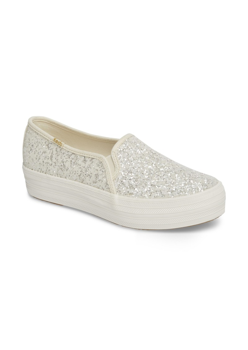 Keds® x kate spade new york triple decker glitter slip-on sneaker (Women)