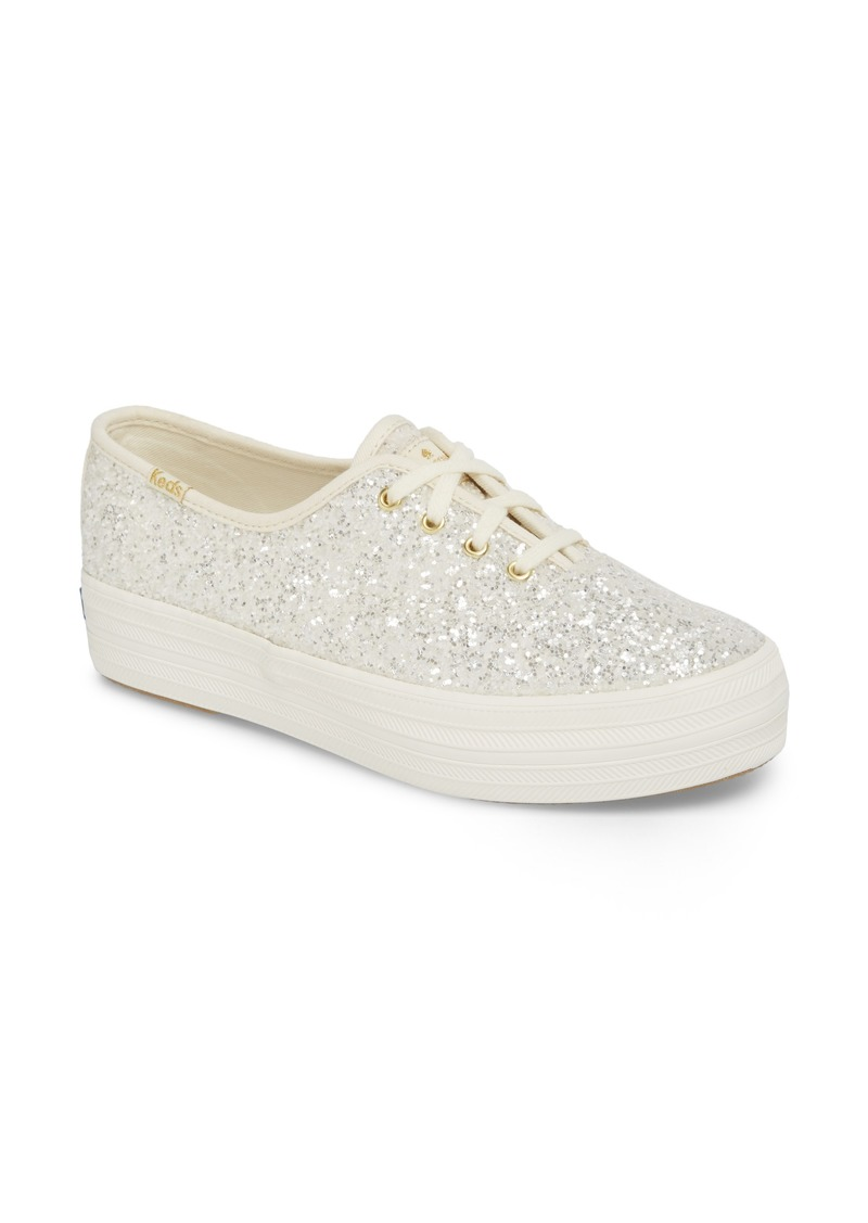 Keds® x kate spade new york triple decker glitter sneaker (Women)