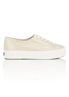 Keds Made in the USA Women's Triple Metallic Linen Sneakers