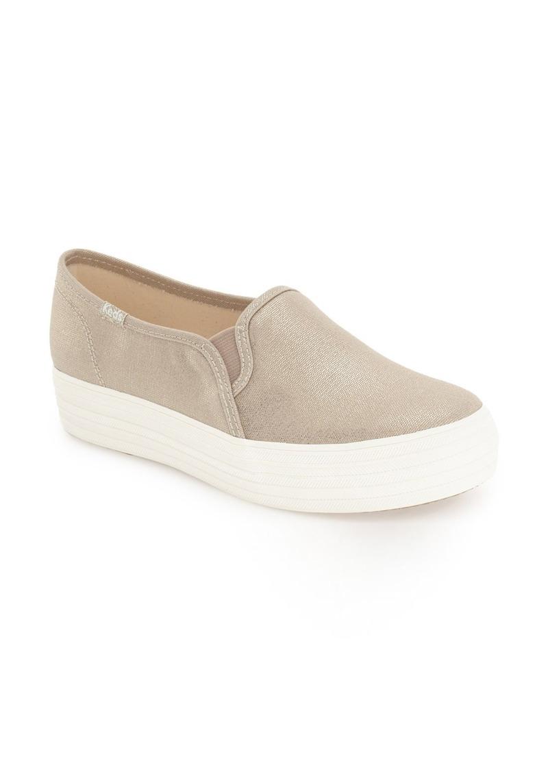 e1ebd7fc7985a Keds Keds®  Triple Decker - Metallic  Slip-On Platform Sneaker ...