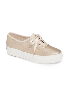 Keds® Triple Decker Brushed Metallic Platform Sneaker (Women)