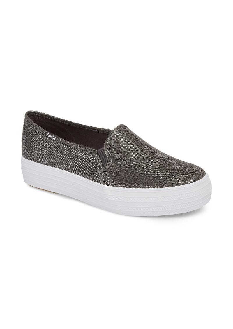 1be06482a4e Keds Keds® Triple Decker Metallic Linen Slip-On Sneaker (Women)