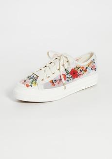 Keds Triple Kick Embroidered Mesh Sneakers
