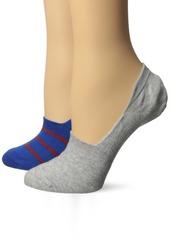 Keds Women's 2 Pack Print Sneaker Liner Socks Blue Assorted