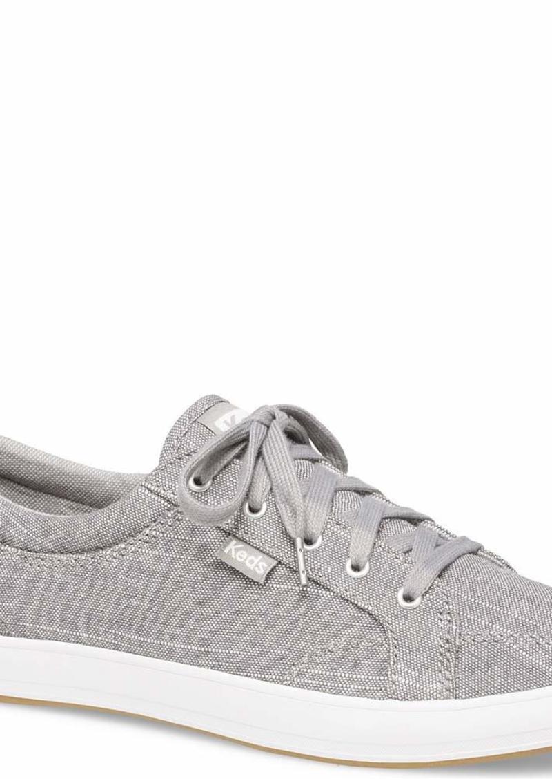 Keds Women's Center Cotton SLUB Shoe Gray  M US