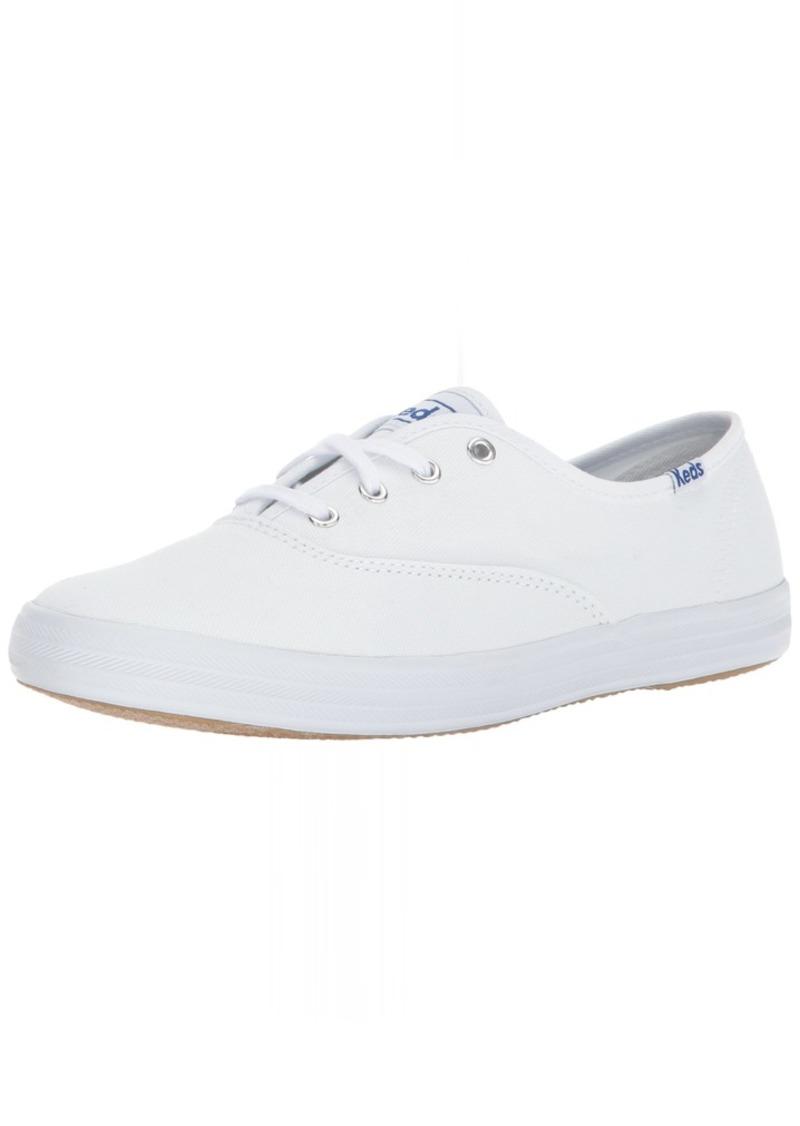 Keds Women's Champion Original Canvas Lace-Up Sneaker White 12 S US