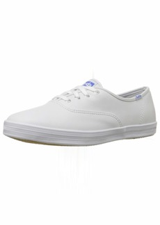 9.5 S US Keds Womens Champion Original Leather Lace-Up Sneaker White Leather