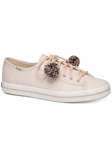 Keds Women's Kickstart Pom Pom Lace-Up Fashion Sneakers Women's Shoes