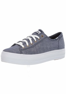 Keds Women's Triple Kick Chambray Sneaker  00 M US