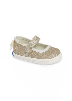 Keds® x kate spade new york Sloan Mary Jane Glitter Flat (Baby)
