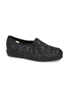 Keds® x kate spade new york triple decker allover glitter slip-on sneaker (Women)
