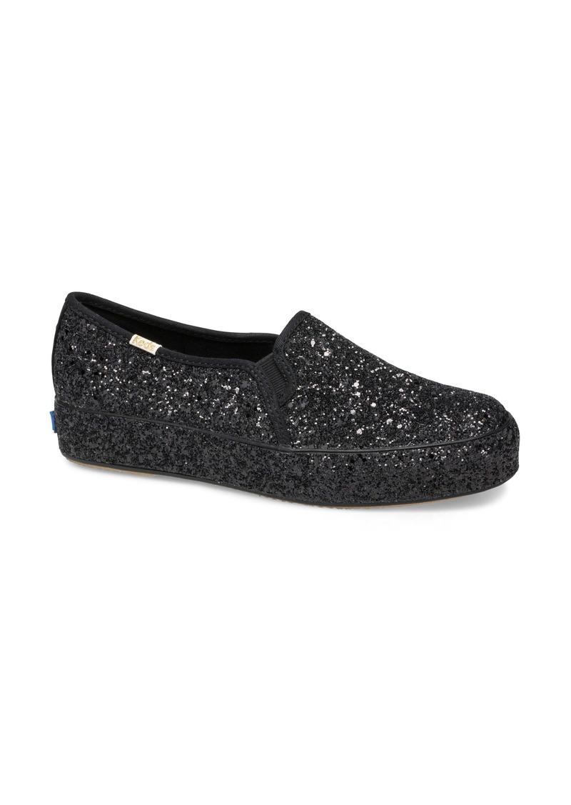 Keds® x kate spade new york triple decker allover glitter slip-on sneaker (Women)