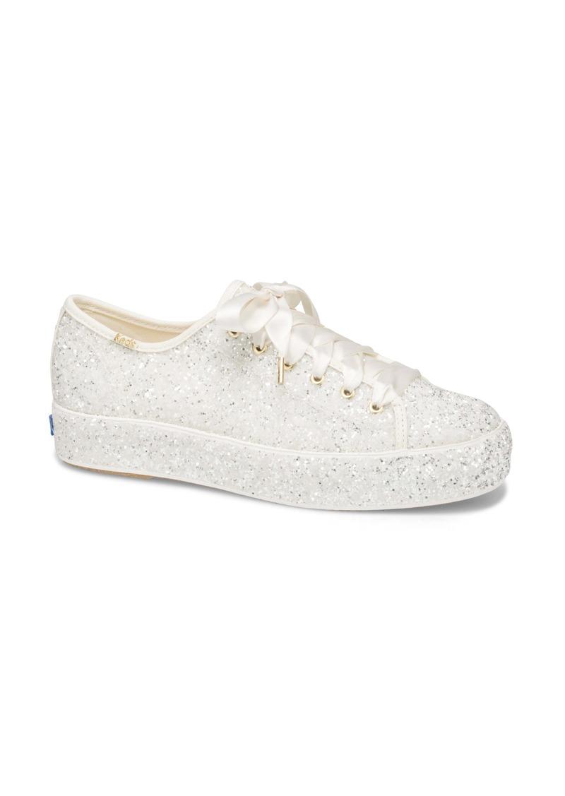 Keds® x kate spade new york triple kick allover glitter sneaker (Women)