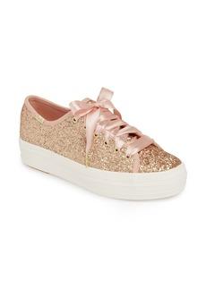 Keds® x kate spade new york Triple Kick Glitter Sneaker (Women)
