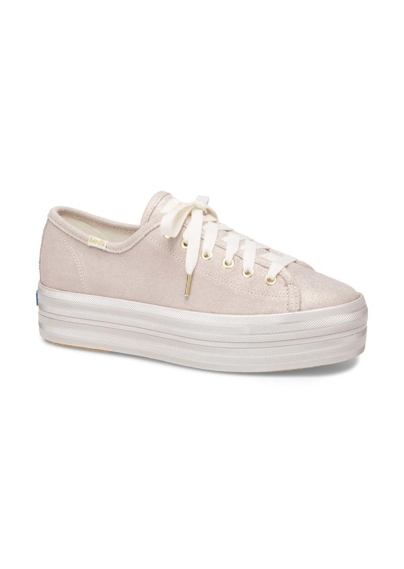 Keds® x kate spade new york triple up allover glitter sneaker (Women)