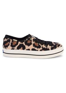Keds Triple Kick Leopard-Print Low-Top Sneakers